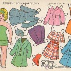 Coleccionismo Recortables: ST R 8 LAMINA RECORTABLE MUÑECA EDITORIAL ROMA RECORTES ESTRELLA Nº 10. Lote 14687816