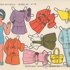 Coleccionismo Recortables: ST R 25 LAMINA RECORTABLE MUÑECA EDITORIAL ROMA RECORTES ESTRELLA Nº 27. Lote 32427693