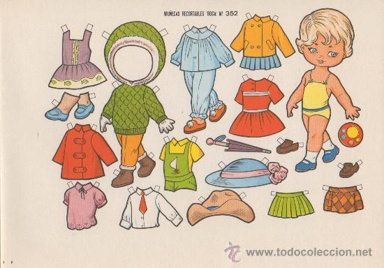 LAMINA RECORTABLE MUÑECA BOGA Nº 352 (Coleccionismo - Recortables - Muñecas)
