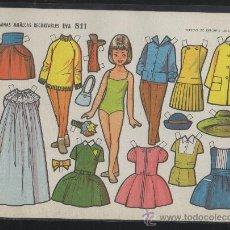 Coleccionismo Recortables: ST R 55 LAMINA RECORTABLE MUÑECA MANOLI Nº 811 ED. EVA. Lote 32697262