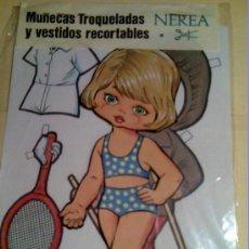 Coleccionismo Recortables: MUÑECAS TROQUELADAS Y VESTIDOS RECORTABLES DE NEREA-MARCA BOGA- Nº 3. Lote 140674202