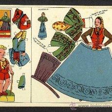 Coleccionismo Recortables: RECORTABLE DE MUÑECAS: VESTIDO TIPICO DE LLEIDA LERIDA. Lote 17762937