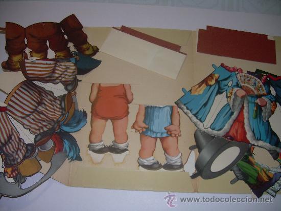 Coleccionismo Recortables: ANTIGUO RECORTABLE TITIN Y TITINA - Foto 2 - 27639207