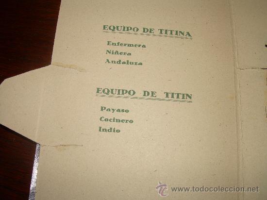 Coleccionismo Recortables: ANTIGUO RECORTABLE TITIN Y TITINA - Foto 8 - 27639207