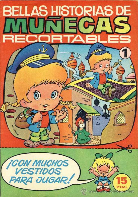 RECORTABLE DE MUÑECAS: TEBEO CON RECORTABLES DE MUÑECAS (ED.BRUGUERA N.1) (VER FOTOS ADICIONALES) (Coleccionismo - Recortables - Muñecas)