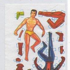 Coleccionismo Recortables: CROMO D4 SPIDERMAN RECORTABLE COLECCIÓN CROMOS MUÑEQUITAS RECORTABLES MUJERCITAS SOBRE VACIO Y CROMO. Lote 36037959