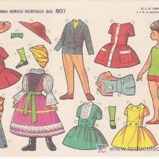 Collectionnisme Images à Découper: MUÑECA RECORTABLE EVA Nº 807. Lote 25989721