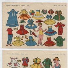 Coleccionismo Recortables: RECORTABLES FHER (12,5X17,5) LOTE DE 2 : Nº 1114 Y 1115. AÑO 1959.. Lote 20137108