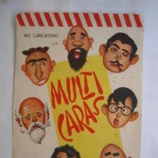 Coleccionismo Recortables: SOBRE MULTICARAS, RECORTABLES, CON 4 LAMINAS, CARICATURAS. Lote 150407450