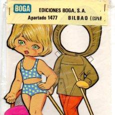 Coleccionismo Recortables: MUÑECA RECORTABLE Y VESTIDOS NEREA - EDICIONES BOGA - 1972. Lote 21741191