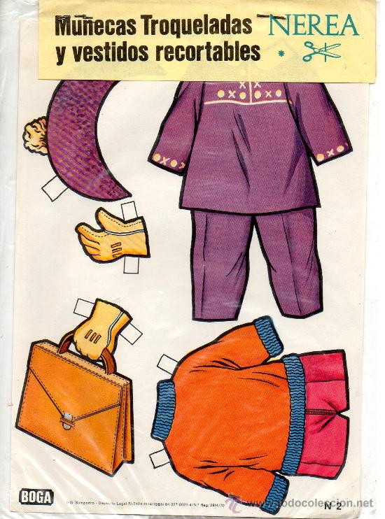 Coleccionismo Recortables: MUÑECA RECORTABLE Y VESTIDOS NEREA - EDICIONES BOGA - 1972 - Foto 2 - 21741148
