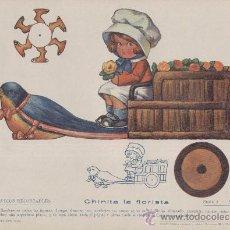 Coleccionismo Recortables: MUÑECO RECORTABLE EN MOVIMIENTO, EDITORIAL SOPENA, DE BARCELONA. CHINITA LA FLORISTA.. Lote 25995470