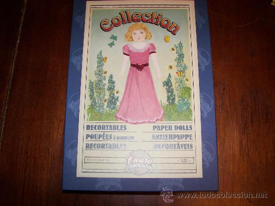 CAJA CON REPRODUCCION DE RECORTABLES ANTIGUOS (Coleccionismo - Recortables - Muñecas)