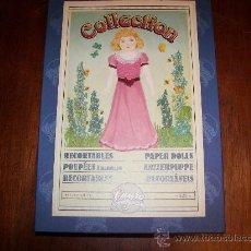 Coleccionismo Recortables: CAJA CON REPRODUCCION DE RECORTABLES ANTIGUOS. Lote 58130970