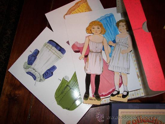 Coleccionismo Recortables: CAJA CON REPRODUCCION DE RECORTABLES ANTIGUOS - Foto 2 - 58130970