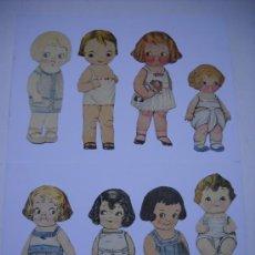 Coleccionismo Recortables: LOTE 8 MUÑECAS RECORTABLES (2 DIBUJADAS A MANO) Y DE 11 TRAJES RECORTABLES. Lote 25046051