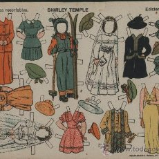 Coleccionismo Recortables: SHIRLEY TEMPLE. EDICIONES TBO. CIRCA 1940.. Lote 26394676