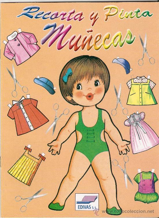 LIBRO DE RECORTABLES PARA COLECCIÓN RECORTA Y PINTA MUÑECAS EDIVAS. (Coleccionismo - Recortables - Muñecas)