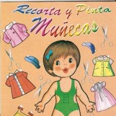 Coleccionismo Recortables: LIBRO DE RECORTABLES PARA COLECCIÓN RECORTA Y PINTA MUÑECAS EDIVAS.. Lote 25833863