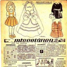 Coleccionismo Recortables: RECORTABLE MUÑECA REVISTA MIS CHICAS . Lote 24569059