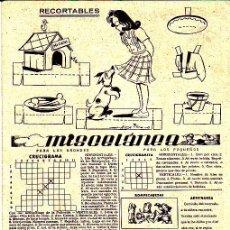 Coleccionismo Recortables: RECORTABLE MUÑECA REVISTA MIS CHICAS . Lote 24569825