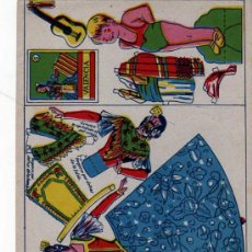 Coleccionismo Recortables: MARIQUITA RECORTABLE. TRAJE TIPICO DE VALENCIA. VALENCIANA. . Lote 24609516