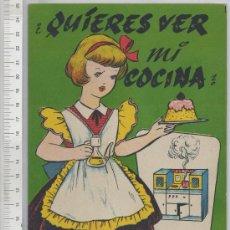Coleccionismo Recortables: RECORTABLE CASA DE MUÑECAS ¿QUIERES VER MI COCINA? MUÑECA JUGUETE ED. LA TIJERA 1962 IL. SABATES. Lote 26198896