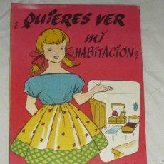 Coleccionismo Recortables: CUARDERNO RECORTABLE Nº1 CASA DE MUÑECA ANTIGUO .LA TIJERA QUIERES VER MI HABITACION.. Lote 35210570