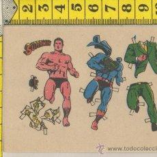Coleccionismo Recortables: PEQUEÑA LAMINA RECORTABLE MUÑECA COMIC SUPERMAN SUPER HEROE RECORTABLES INFANTIL JUGUETE. Lote 28239091