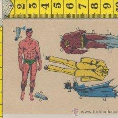 Coleccionismo Recortables: PEQUEÑA LAMINA RECORTABLE MUÑECA COMIC BATMAN SUPER HEROE RECORTABLES INFANTIL JUGUETE. Lote 28239159