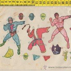 Coleccionismo Recortables: PEQUEÑA LAMINA RECORTABLE MUÑECA DIBUJO ANIMADO LUCHADOR RECORTABLES INFANTIL JUGUETE. Lote 28239480