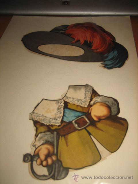 CAHQUETA Y SOMBREO MOSQUETERO DE TITIN (Coleccionismo - Recortables - Muñecas)