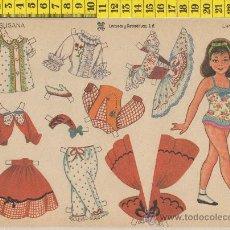 Coleccionismo Recortables: LAMINA RECORTABLE MUÑECA SUSANA MODA VESTIDOS NIÑA RECORTABLES INFANTIL JUGUETE ED. LEYRE. Lote 28536067