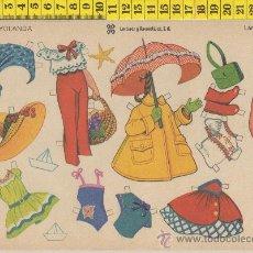 Coleccionismo Recortables: LAMINA RECORTABLE DE MUÑECA YOLANDA MODA VESTIDOS NIÑA RECORTABLES INFANTIL JUGUETE ED. LEYRE. Lote 28561510