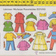 Coleccionismo Recortables: ST R 74 LAMINA RECORTABLE DE MUÑECA Y VESTIDOS MUÑECAS EDIVAS Nº 20. Lote 254799990