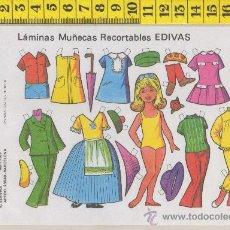 Coleccionismo Recortables: ST R 75 LAMINA RECORTABLE DE MUÑECA Y VESTIDOS MUÑECAS EDIVAS Nº 21. Lote 28562566