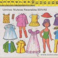 Coleccionismo Recortables: ST R 76 LAMINA RECORTABLE DE MUÑECA Y VESTIDOS MUÑECAS EDIVAS Nº 22. Lote 28562597