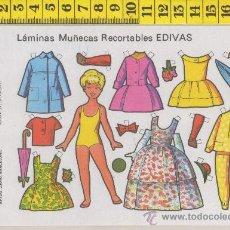 Coleccionismo Recortables: ST R 76 LAMINA RECORTABLE DE MUÑECA Y VESTIDOS MUÑECAS EDIVAS Nº 23. Lote 254800535