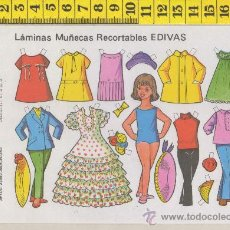 Coleccionismo Recortables: ST R 79 LAMINA RECORTABLE DE MUÑECA Y VESTIDOS MUÑECAS EDIVAS Nº 26. Lote 254801045