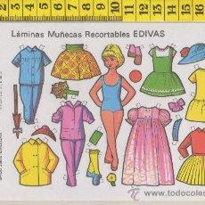 Coleccionismo Recortables: ST R 81 LAMINA RECORTABLE DE MUÑECA Y VESTIDOS MUÑECAS EDIVAS Nº 28. Lote 254801490