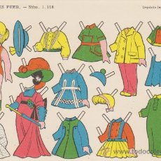 Coleccionismo Recortables: RECORTABLE (12,5X17,5)) Nº 1118. EDITORIAL FHER 1959.. Lote 28746440