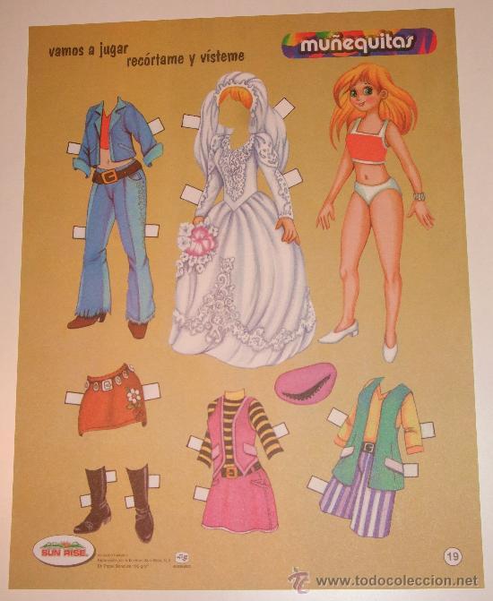 lamina recortable de muñeca muñequitas 19 traje - comprar