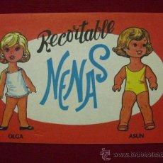 Coleccionismo Recortables: RECORTABLE NENAS . Nº 2 - 6 PAGS. - 1977. EDITORIAL VASCO AMERICANA. 2 MUÑECAS. Lote 29424694
