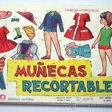 Colecionismo Recortáveis: MUÑECAS RECORTABLES 2ª SERIE EDITORIAL VASCO AMERICANA EVA 1963 18 CM X 12,5 CM 5 SERIES 10 HOJAS. Lote 29899055