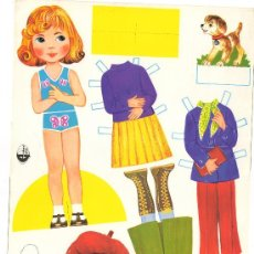 Coleccionismo Recortables: LAMINA RECORTABLE DE MUÑECA DISNOVA Nº56 AÑOS 70 VESTIDO MODA NIÑA JUGUETE INFANTIL ED. GLOBO. Lote 30724063