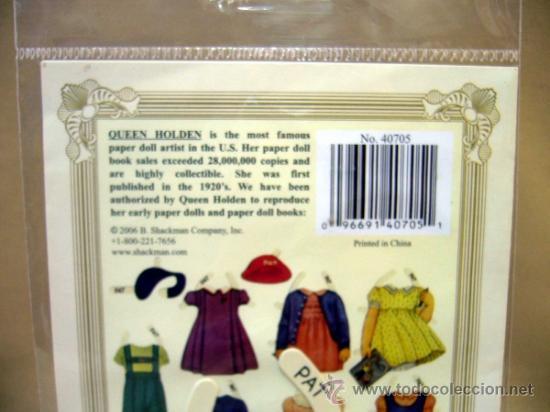 Coleccionismo Recortables: RECORTABLE DE MUÑECAS, SHACKMAN, PAT, 9 PIEZAS, MUÑECA DE 19 CM - Foto 3 - 30877122