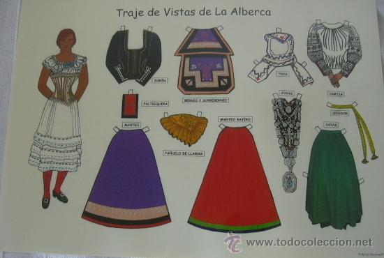 Alberca Para Colorear: Recortable Moda La Alberca (salamanca) Traje Tí