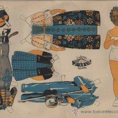 Coleccionismo Recortables: SHIRLEY TEMPLE. VESTIDO INSPIRADO EN LA PELÍCULA THE LITTLE PRINCESS. AÑOS 1940. 44X56 CM.. Lote 31111520