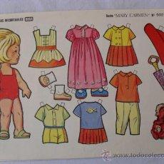 Coleccionismo Recortables: BOGA.SERIE MARY CARMEN Nº 502. Lote 32430448