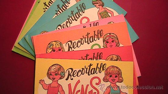 RECORTABLES NENAS, PLANCHA. NUMS 1 A 10. 1977. EDITORIAL VASCO AMERICANA. (Coleccionismo - Recortables - Muñecas)